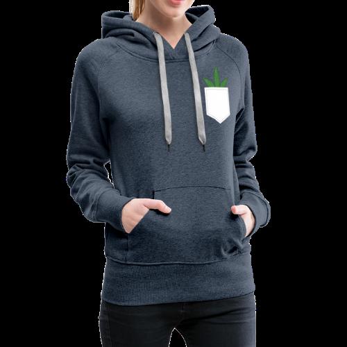 Brusttasche mit Marihuana / Cannabisblatt - Frauen Premium Hoodie