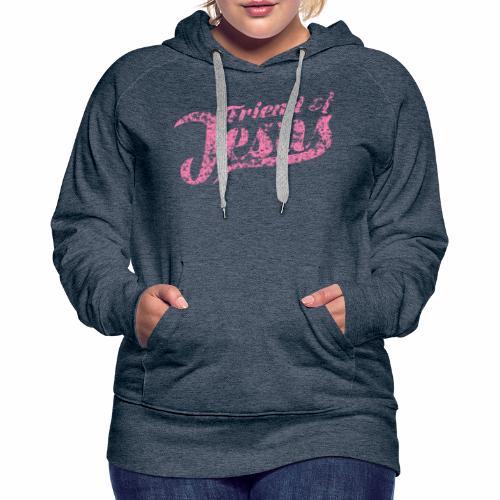Friend of Jesus rosa - Frauen Premium Hoodie