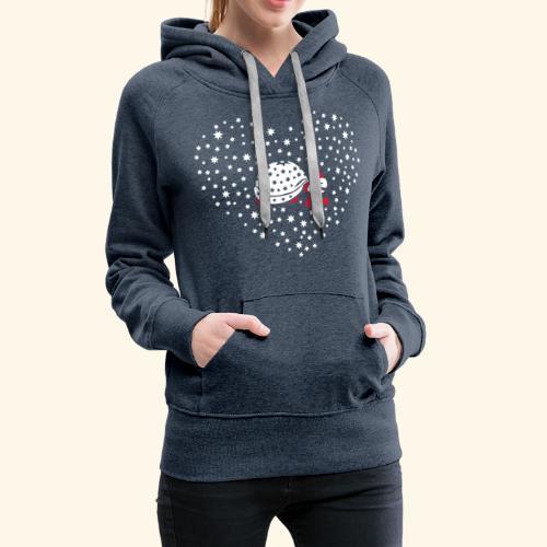 Schildkröte im Schneeherz - Frauen Premium Hoodie