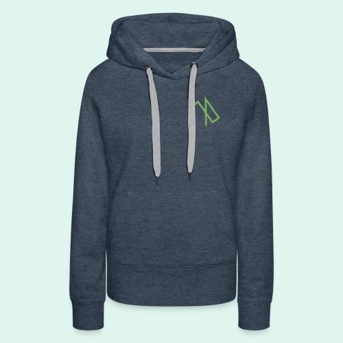 R A B A L E. decide / logo écolo. - Sweat-shirt à capuche Premium pour femmes