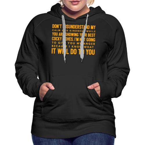 confidence - Dame Premium hættetrøje