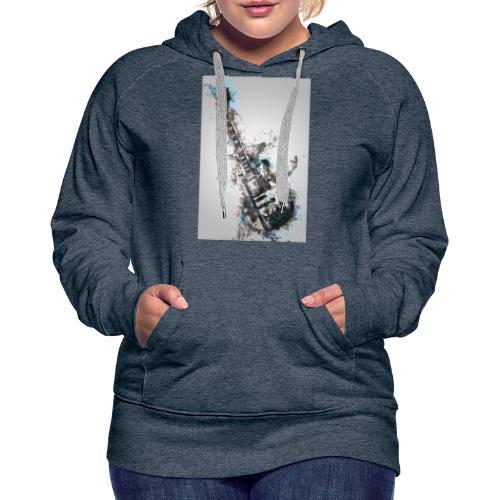Guitare - Sweat-shirt à capuche Premium pour femmes