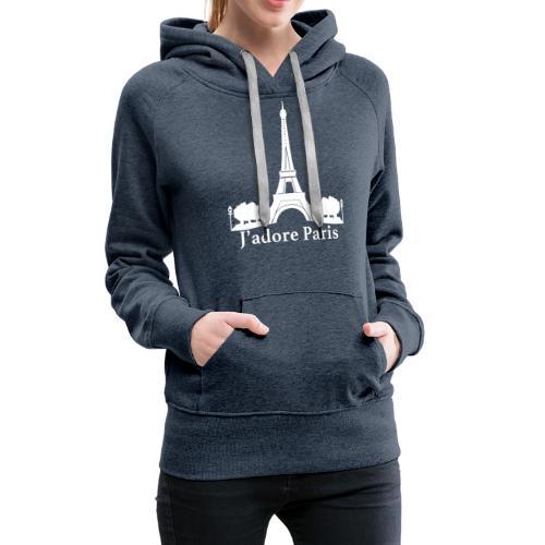 Design j'adore paris ma ville - Sweat-shirt à capuche Premium pour femmes