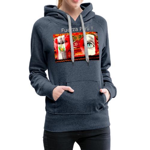 Telar Fuerza Peru I - Sudadera con capucha premium para mujer