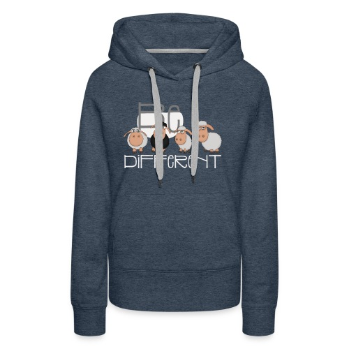 Coole Be different Schafe Gang - Gute Laune Schaf - Frauen Premium Hoodie