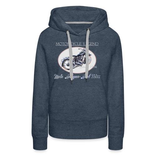 moto antigua - Sweat-shirt à capuche Premium pour femmes