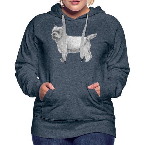 cairn terrier - Dame Premium hættetrøje