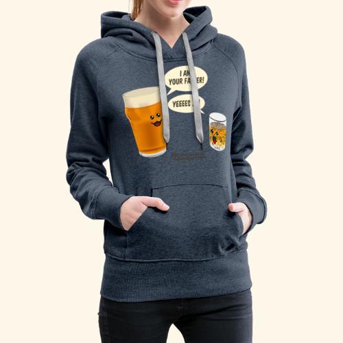 Bier & Whisky Spruch I am your father - Frauen Premium Hoodie