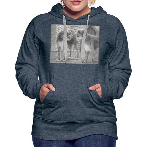 Irish Wolf hound - Dame Premium hættetrøje