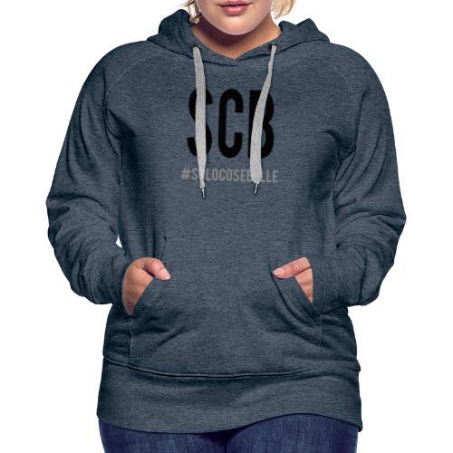 scb scritta nera - Felpa con cappuccio premium da donna