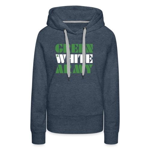 GREEN & WHITE ARMY - Women's Premium Hoodie