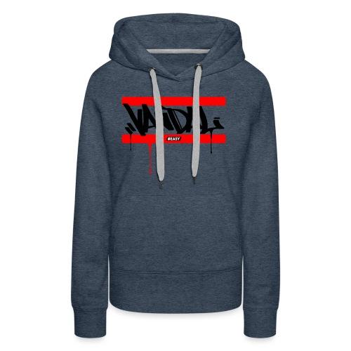 #EASY Graffiti Vandal T-Shirt - Felpa con cappuccio premium da donna