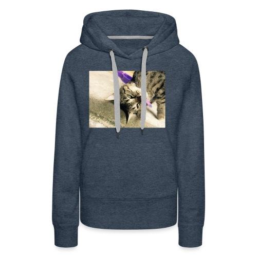 Gatito diseño de almuadilla para ratón - Sudadera con capucha premium para mujer