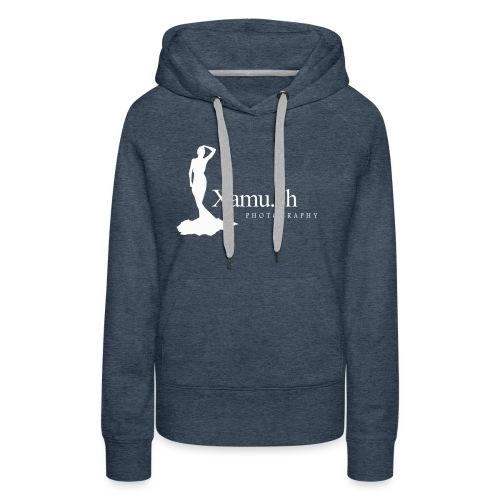 logoxamuweiss_gross_kl - Frauen Premium Hoodie