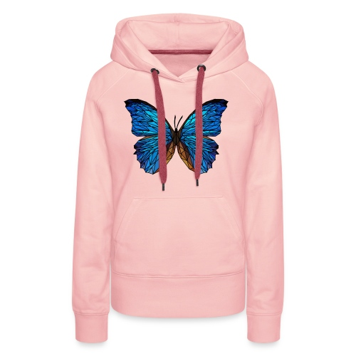 PAPILLON - LOW POLY (Outline) - Sweat-shirt à capuche Premium pour femmes