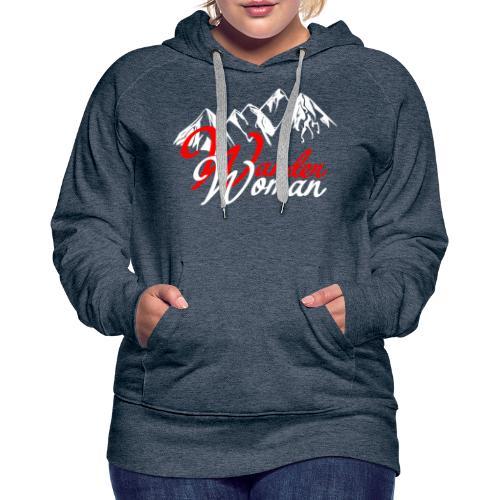 WanderWoman Wandern 2021 - Frauen Premium Hoodie