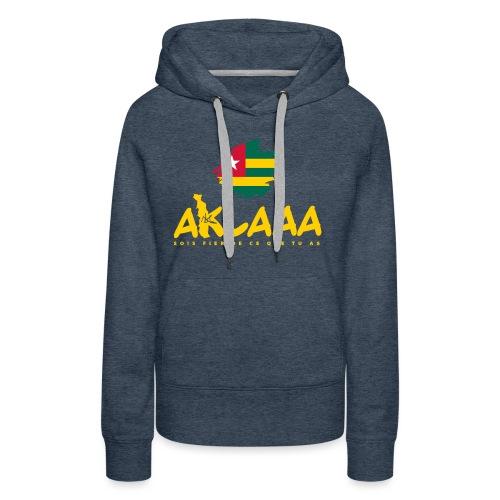 Aklaaa - Togo - Jaune - Sweat-shirt à capuche Premium pour femmes