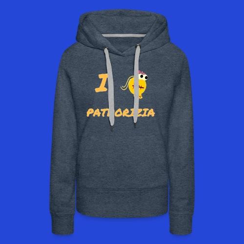 Love Pathorizia - Felpa con cappuccio premium da donna