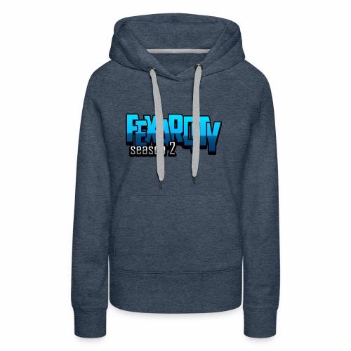 Logo FexarCityS2 - Felpa con cappuccio premium da donna