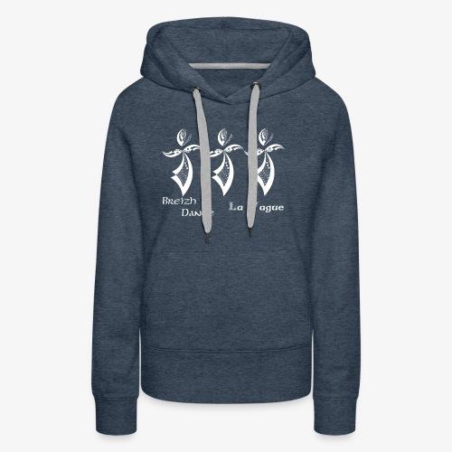BZH Typik Design - La Vague - Sweat-shirt à capuche Premium pour femmes