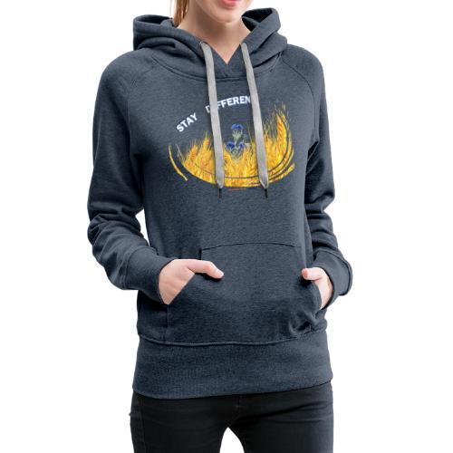 stay different - Sweat-shirt à capuche Premium pour femmes