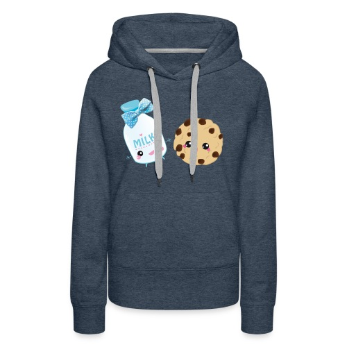 Milk & Cookie - Sweat-shirt à capuche Premium pour femmes