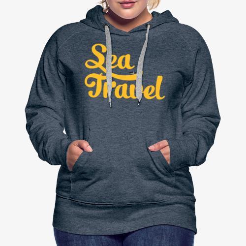 sea travel - Sweat-shirt à capuche Premium pour femmes