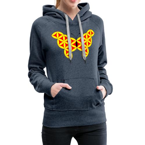 The Butterfly Of Life - Sacred Animals - Women's Premium Hoodie