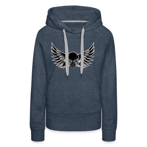 skull wings black - Vrouwen Premium hoodie