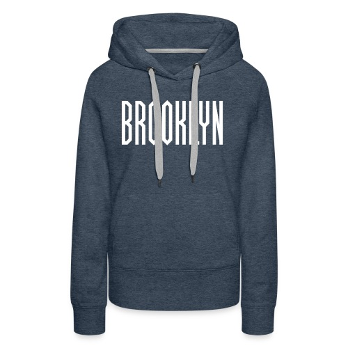 BROOKLYN Word White - Sweat-shirt à capuche Premium pour femmes