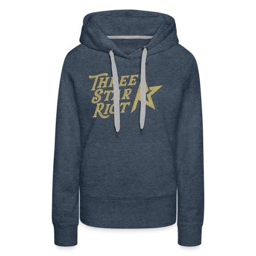 Three Star Riot logo väri - Naisten premium-huppari