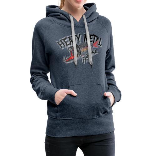 heavy metal red black de - Frauen Premium Hoodie
