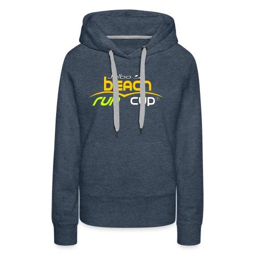 SPREADSHIRT_Atelier_Beach_run_v3_-1- - Sweat-shirt à capuche Premium pour femmes