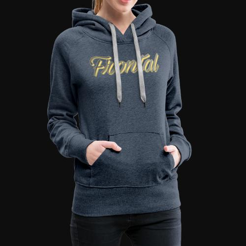 ƒяσηтαℓ (Gold ) - Frauen Premium Hoodie