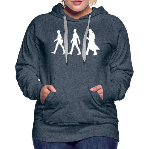White Design With Title and Characters - Women's Premium Hoodie