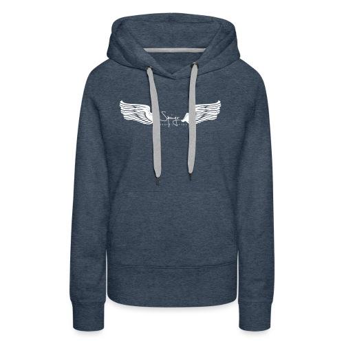 Seraph Wings white - Sweat-shirt à capuche Premium pour femmes
