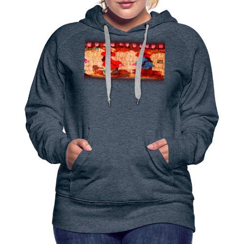 Dos Paisanitas tejiendo telar inca - Frauen Premium Hoodie