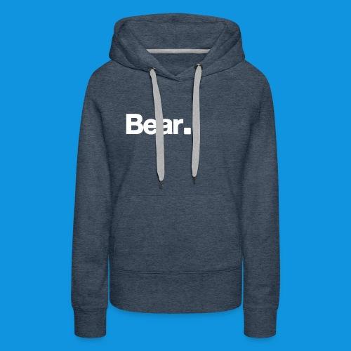 Bear. Retro Bag - Women's Premium Hoodie