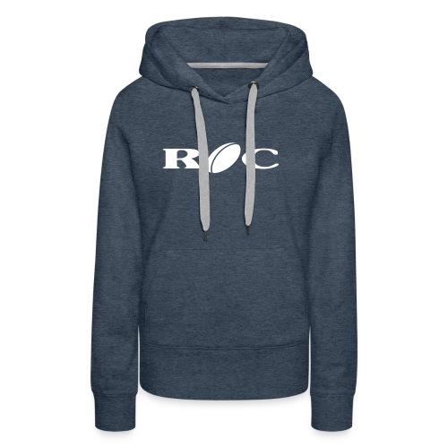ROC-blanc - Sweat-shirt à capuche Premium pour femmes