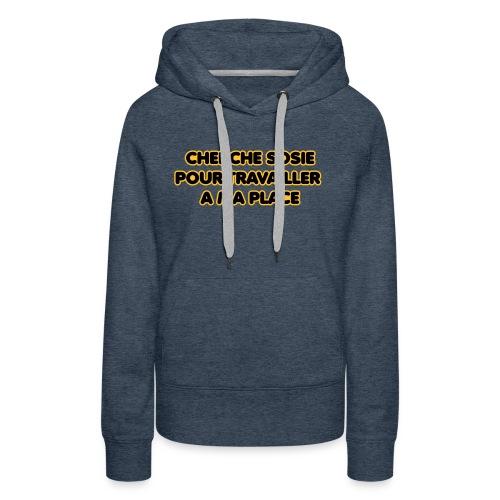 cherche_sosie2 - Sweat-shirt à capuche Premium pour femmes