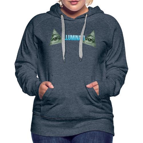 ILLUMINATI - Dame Premium hættetrøje