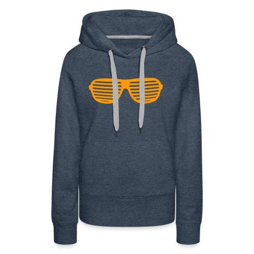lunette Orange - Sweat-shirt à capuche Premium pour femmes