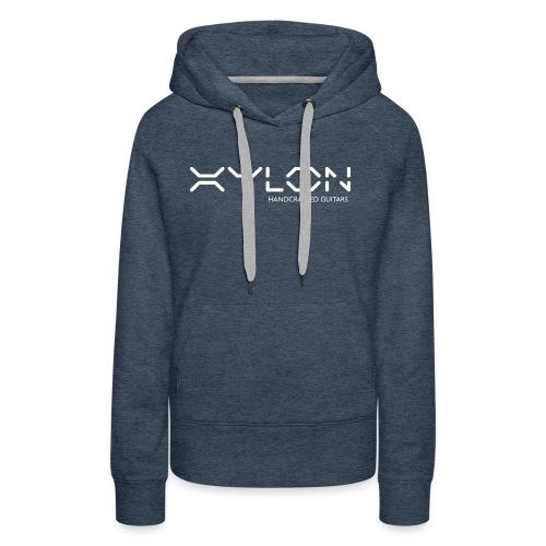 Xylon Handcrafted Guitars (name only logo white) - Women's Premium Hoodie