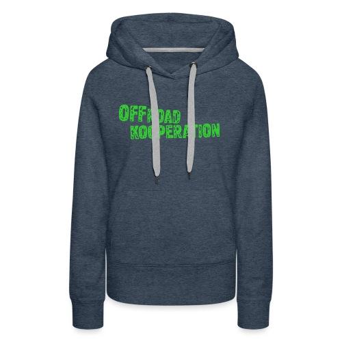 offroad kooperation green - Frauen Premium Hoodie
