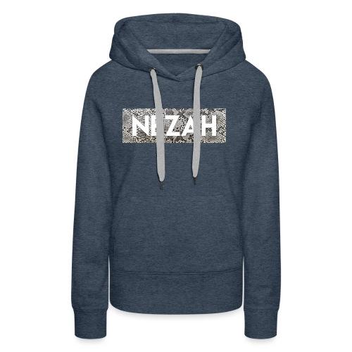 Nezah Snake Skin Box Logo - Women's Premium Hoodie