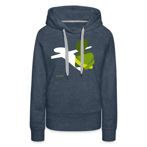 BEFIT_gr.png - Vrouwen Premium hoodie