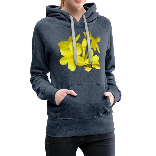 Winterjasmin Jasmin gelb Duft Zierpflanze Strauch - Frauen Premium Hoodie