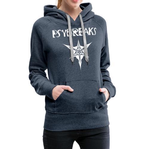 Psybreaks visuel 1 - text - white color - Sweat-shirt à capuche Premium pour femmes