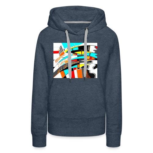 spacecity 18 W - Sweat-shirt à capuche Premium pour femmes
