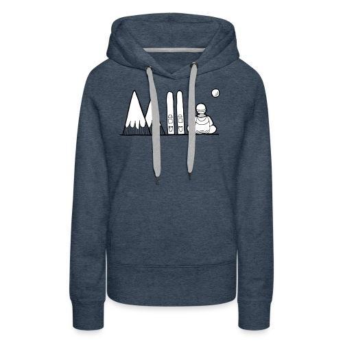 ski et montagnes - Sweat-shirt à capuche Premium pour femmes